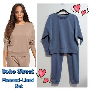 Soho Street - Fleece Lined Sweatshirt & Joggers